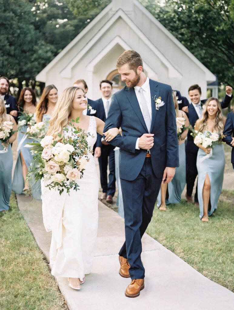 Couple Walking Down the Aisle