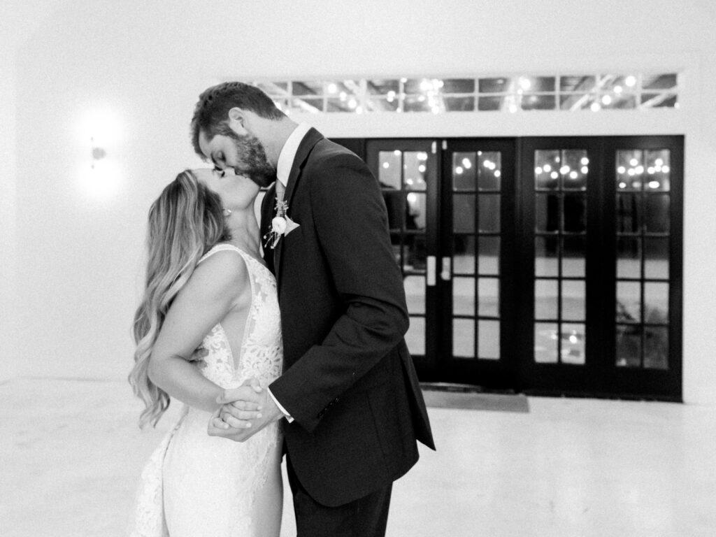 Married Couple Kissing on Dance Floor